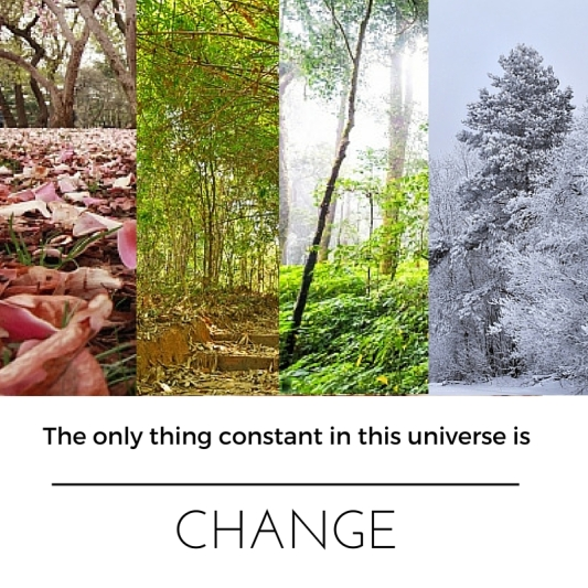 The only thing constant in this universe is CHANGE (1)